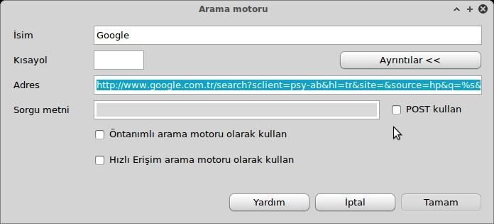 google arama motoru yapılandırma